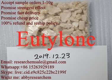 99.9% Purity Legit Research Chemicals Eutylone Crystal Tan Brown Color EU